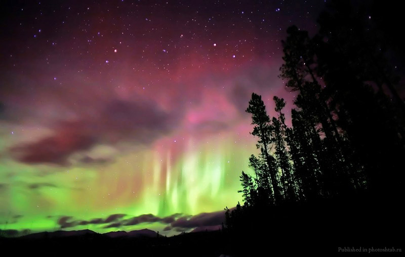 Аврора фото,северное сияние фото,Аврора видео,чудеса света