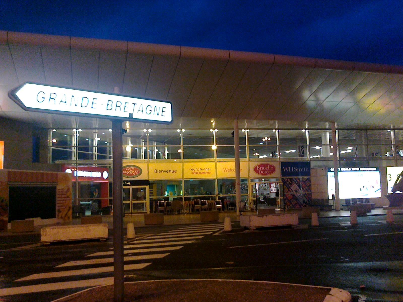 Въезд в Евротоннель со стороны Франции