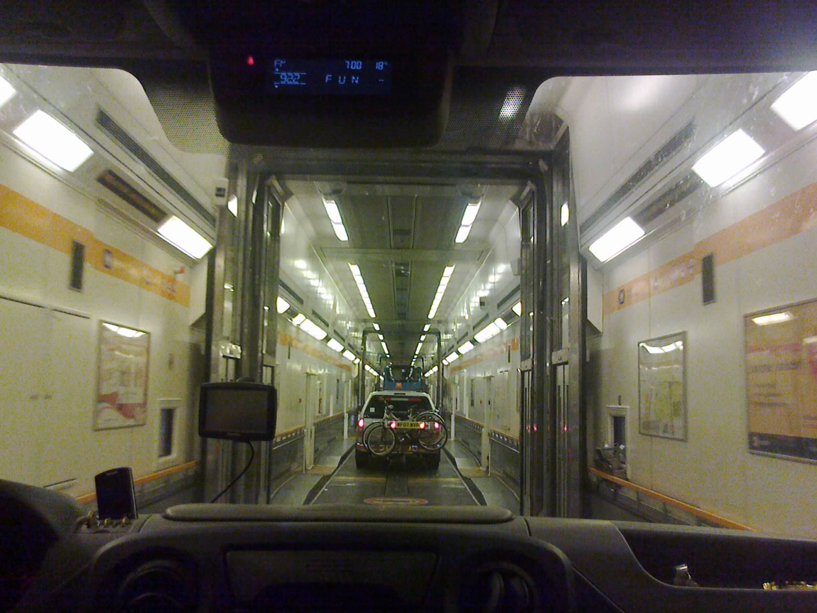 Внутри поезда Франция-Англия.