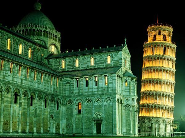 Пизанская башня,Семь чудес света,чудеса света