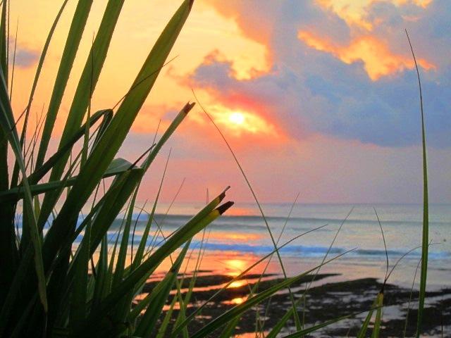 Довиль Пляж на закате,Города Франции, известные на весь мир