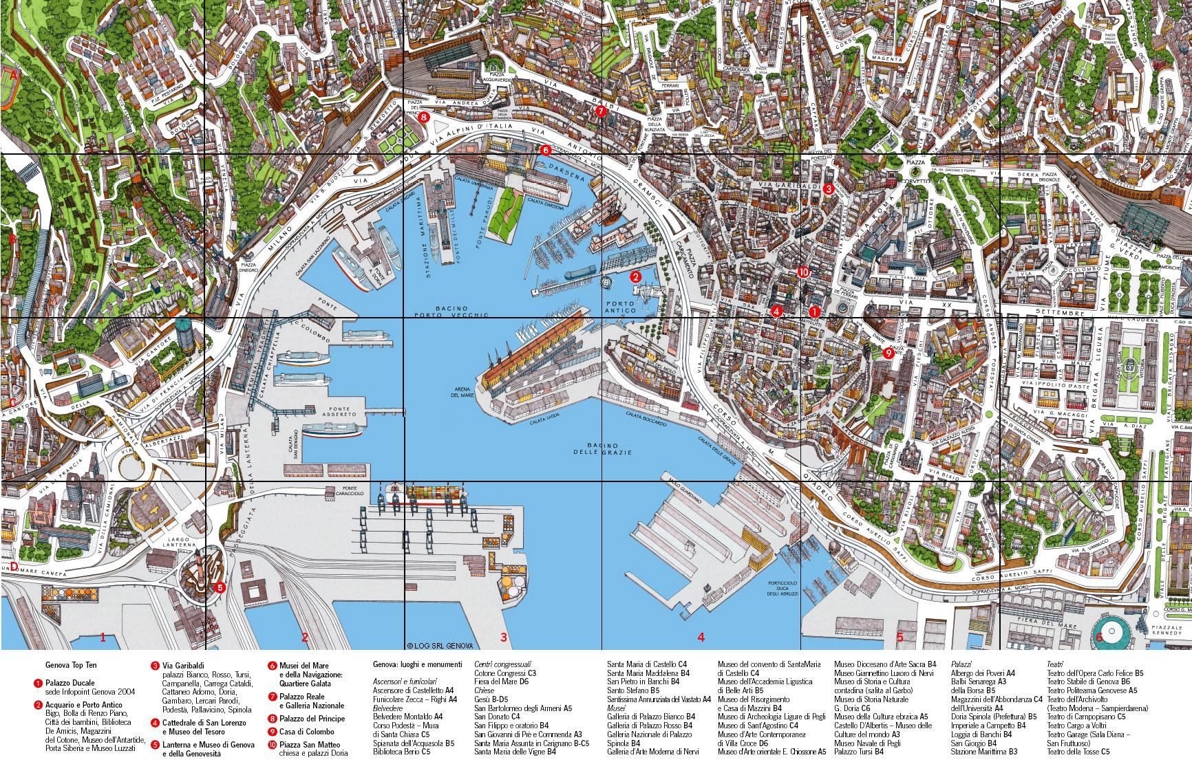 Генуя на карте