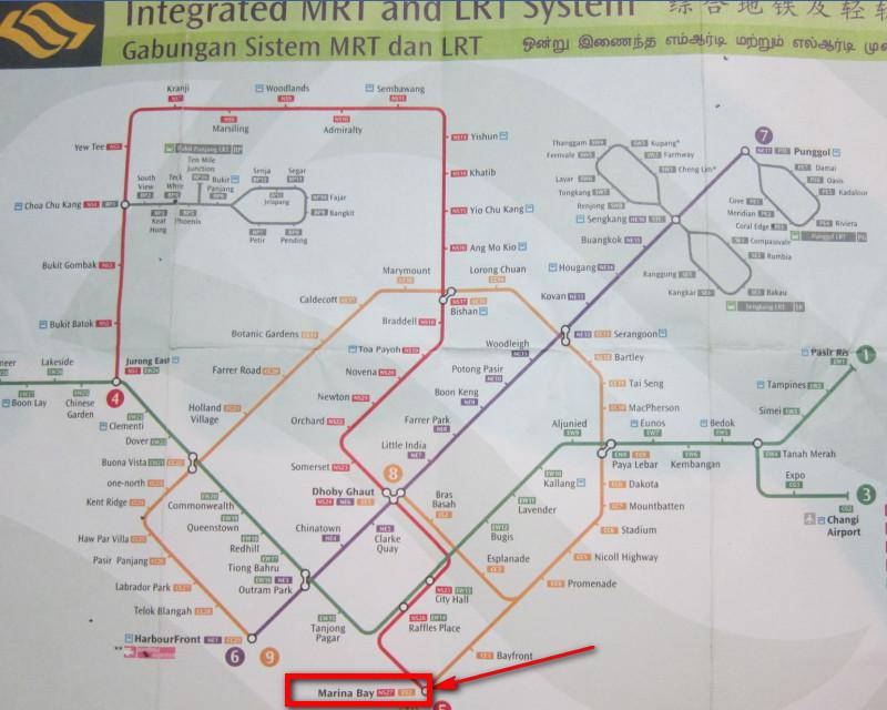 схема метро в Сингапуре, достопримечательности Сингапура фото, карта достопримечательностей