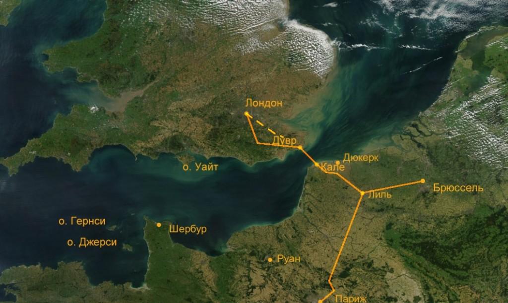 Туннель под Ла-Маншем, евротуннель схема, как найти евротунель