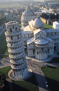 Пизанская башня, Падающие башни, чудеса света фото