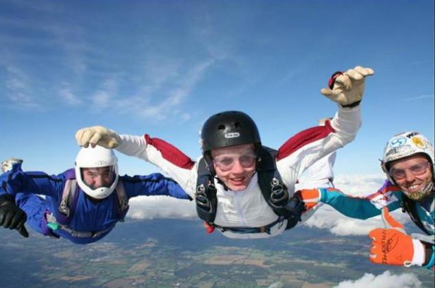Прыжок с парашютом фото