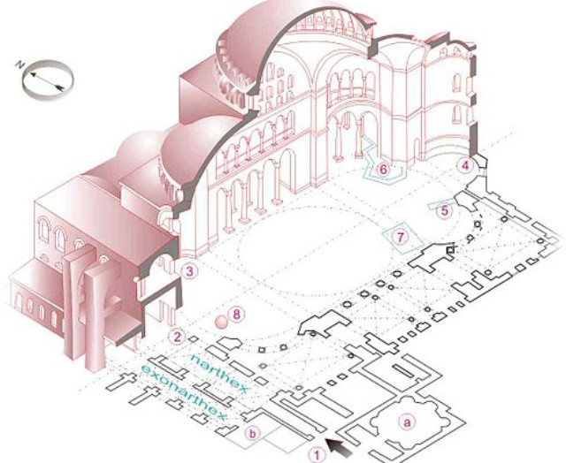 святая софия фото,схема храма святой софии,храм святой софии в стамбуле,храм святой софии в византии