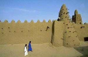 Тимбукту на карте, бухта тимбукту,где находится тимбукту,знаменитые строения Африки,тимбукту фото,