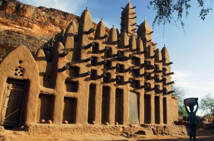 Тимбукту,рукотворные чудеса,Тимбукту на карте, бухта тимбукту,где находится тимбукту,знаменитые строения Африки,тимбукту фото,