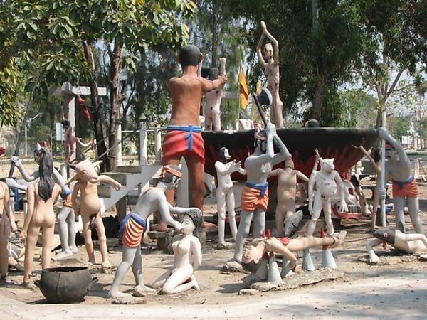 смерти, Парк, Тайланде, место, полное, Тайцы, детьми, Кроме, много, среди, представление, грешников, плохо, здесь, очень, странная, туристов, малоизвестный